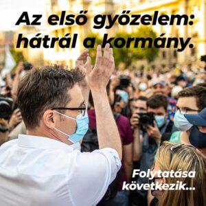 Kamu Geri győzelmi mámorban: Meghátrált a kormány, folytatása következik, erősek vagyunk