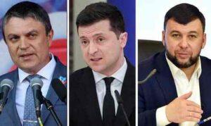 Egy asztalhoz ültetik Zelenszkijt a Donbassz vezetőivel?